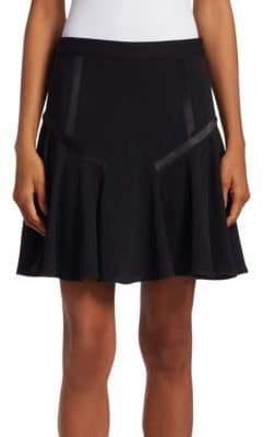 Halston Tape Detail Flounce Skirt
