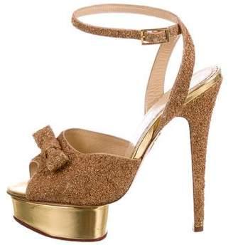 Charlotte Olympia Glitter Platform Sandals