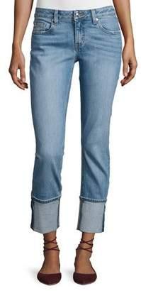 Derek Lam 10 Crosby Mila Mid-Rise Cuffed Slim Boyfriend Jeans, Indigo $275 thestylecure.com