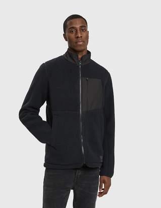 Herschel Sherpa Full Zip Fleece in Black