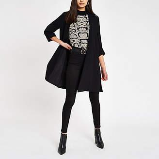 River Island Black longline duster jacket