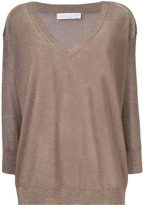 Fabiana Filippi metallic V-neck sweater