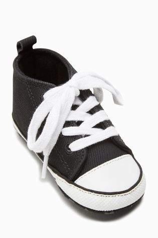 Boys Black Pram Lace-Up Boots (Younger Boys) - Black