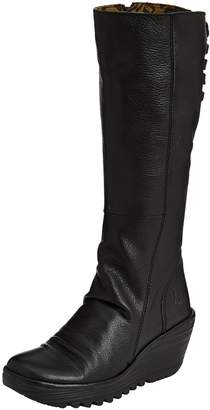 Fly London Womens Yust Mousse Leather Boots-UK 5