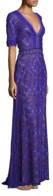 Tadashi Shoji Lace V-Neck Gown $528 thestylecure.com