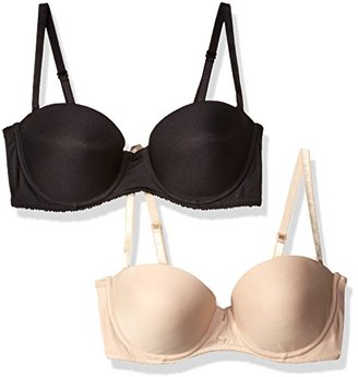 Lily of France Women's 2 Pack Strapless Push Up Convertible Bra 2179407 $29.98 thestylecure.com