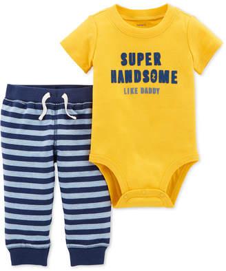 Carter's Baby Boys 2-Pc. Cotton Super Handsome Bodysuit & Pants Set