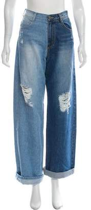 Sjyp High-Rise Two-Tone Jeans w/ Tags