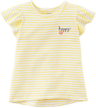 Carter's Short Sleeve Round Neck T-Shirt-Toddler Girls