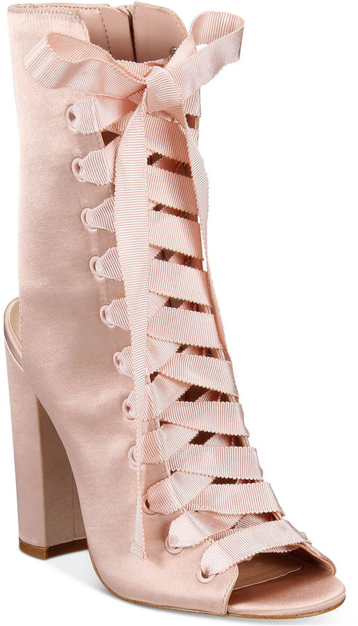 Aldo Rosamilia Lace-Up Block-Heel Booties Women's Shoes