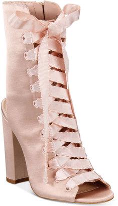 ALDO Rosamilia Lace-Up Block-Heel Booties $110 thestylecure.com