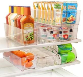 clear Greenco 6 Piece Refrigerator And Freezer Stackable Storage Organizer Bins With Handles