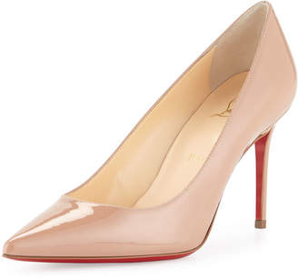 6899ea2f127c Christian Louboutin Decollete 85mm Patent Leather Red Sole Pump