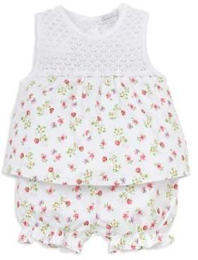 Kissy Kissy Girls' Blooming Berries Print Top & Bloomers Set - Baby