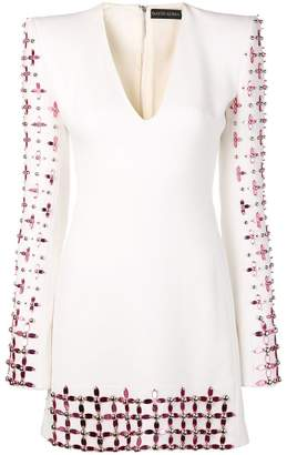 David Koma flower beads dress