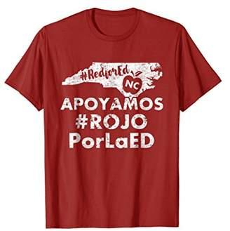 Spanish nc red for ed shirt north carolina teacher shirt