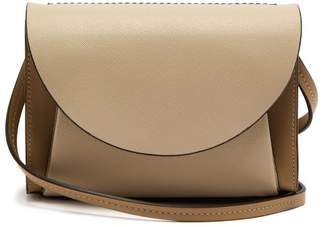 Marni Law Panelled Leather Belt Bag - Womens - Beige Multi