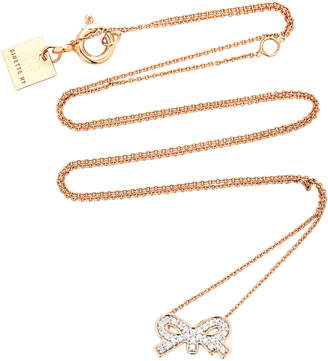 ginette_ny Tiny Diamond 18K Rose Gold Necklace