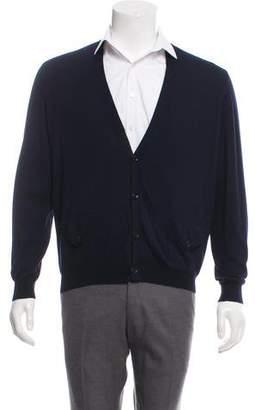 Dries Van Noten Wool-Blend Button-Up Cardigan