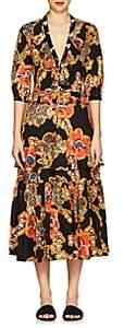 Warm Women's Sierra Floral Cotton Poplin Maxi Dress - Black
