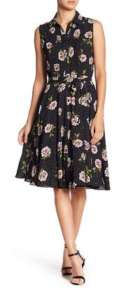 Nanette Lepore NANETTE Pleated Floral Print Dress