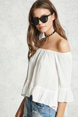 FOREVER 21+ Off-the-Shoulder Peasant Top $12.90 thestylecure.com