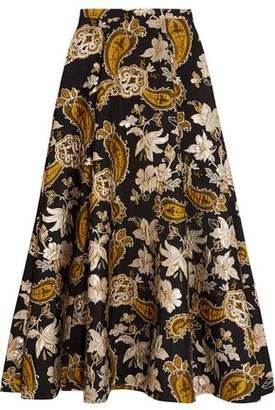 Alice + Olivia Rachele Metallic Jacquard Maxi Skirt