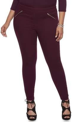 JLO by Jennifer Lopez Plus Size Zipper Accent Jeggings