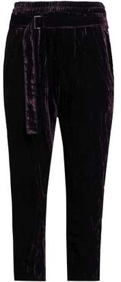 Ann Demeulemeester Belted Velvet Tapered Pants