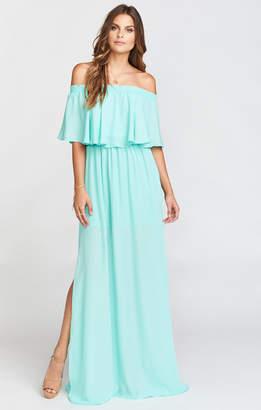 Show Me Your Mumu Hacienda Maxi Dress ~ Sea Glass Crisp