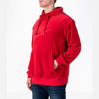 Nike Men's Sportswear Velour Pullover Hoodie