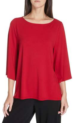 Eileen Fisher Bell Sleeve Jersey Top