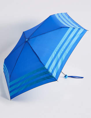 M&S Collection Striped Compact Umbrella with StormwearTM