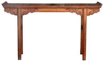 One Kings Lane Vintage Midcentury Altar Table with Papier-MAchA - de-cor