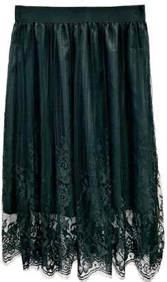 Antonello Serio Black Lace Skirt
