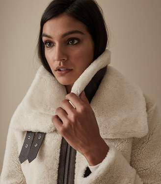 Reiss Isabelle Shearling Coat
