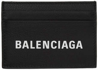 Balenciaga Black Logo Everyday Card Holder