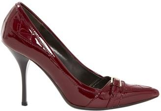 Burberry Burgundy Patent leather Heels