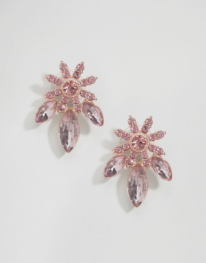 Asos Jewel Flower Stud Earrings