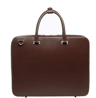 Co FAIRE LEATHER Bond Vt Travel Briefcase Dark Brown