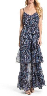 Women's Eliza J Tiered Maxi Dress $158 thestylecure.com
