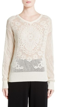 Women's Fuzzi Crochet Sweater $470 thestylecure.com