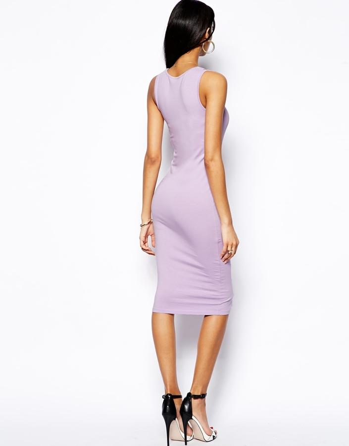 Asos Midi Bodycon Vest Dress