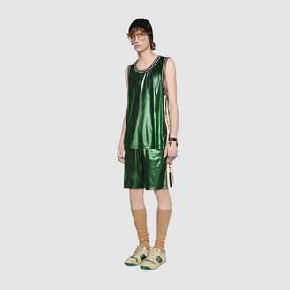Gucci Laminated jersey shorts