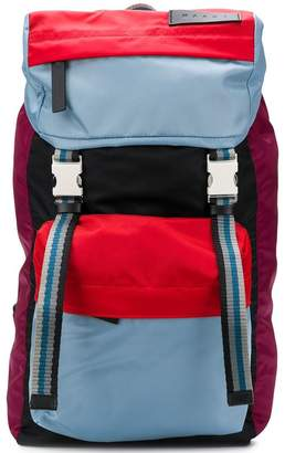 Marni colour-blocked backpack