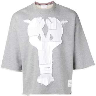 Thom Browne Shirting Patchwork Icon Cutoff Tee