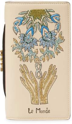 Christian Dior Women's Beaded Leather Wallet
