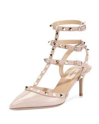Valentino Rockstud Caged 65mm Pump, Powder (Poudre) $995 thestylecure.com