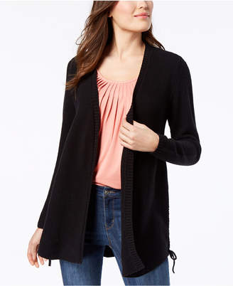 Style&Co. Style & Co Petite Laced-Side Cardigan, Created for Macy's