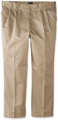 Izod Men's Big-Tall Pleated Extended Twill Pant